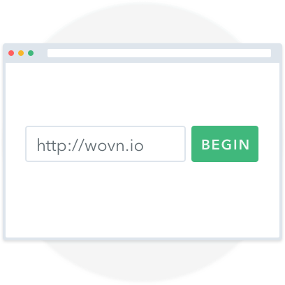 WOVN.io | Step 1 | Add your website's URL